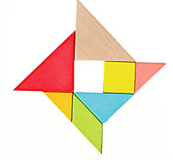 cheap -Tangram Jigsaw Puzzle Wooden Puzzle Fun Classic Classic Pieces Boys' Kid's Kids Gift