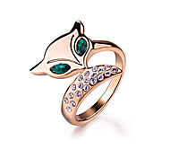 Недорогие -Кольца Имитация Emerald Мода Для вечеринок Бижутерия Сплав Женский Массивные кольца 1шт,Стандартный размер Розовое золото
