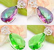 Feminino Pingentes Forma Geométrica Cristal Prata Chapeada bijuterias Jóias Para Casamento Festa Diário Casual Esportes
