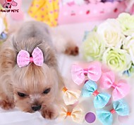 cheap -Cat Dog Hair Accessories Hair Bow Dog Clothes Yellow Blue Pink Terylene Costume For Pets Cosplay Wedding