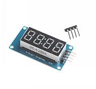 per Arduino 4 cifre ha condotto il modulo del display led point regolabile blocchi di montaggio di luminosità con orologio