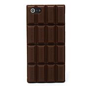 Недорогие -3d случай мягкой крышки шоколада силикона с iphone 5c iphone случаи