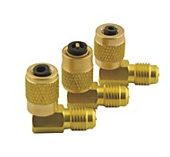 cheap -Car Air Conditioner 1/8PT Female to 1/8PT Male Adjustable Quick Coupler Connector Adapter Gold Tone 8 in 1 Set