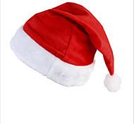 Недорогие -Новый Санта бархат шляпа Christmas Party красный и белый колпак для костюме Санта-Клауса