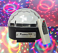 mp3 voz diamante bola de cristal automotora voz mp3 player 3W * contas de luz 6LED seis cores grande tensão