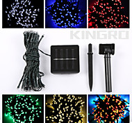 abordables -Cuerdas de Luces 60 LED Blanco Cálido RGB Blanco Verde Azul Rojo Control remoto Cortable Recargable Regulable Impermeable Color variable