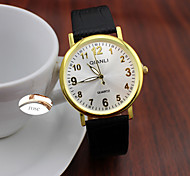 Недорогие -Персональный подарок Часы, Аналоговый Кварцевый Часы With Металл Материал корпуса Кожа Группа Глубина сопротивления воды
