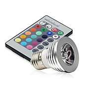 cheap -250 lm E14 GU10 E26/E27 LED Stage Lights MR16 1 leds High Power LED Dimmable Decorative Remote-Controlled RGB AC 85-265V
