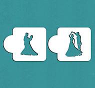 Недорогие -подарок танцующая пара торт трафарет трафарет печенье Валентина, ул-359