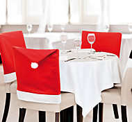 6 Pcs/Lot Santa Claus Hat Chair Covers Christmas Decoration Kitchen Dining Table Decor Home Party