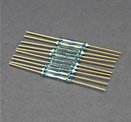 Reed Switch / Magnetic Switch / Glass Size - Golden + Green (10 PCS / 2 x 14mm)