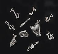 Недорогие -beadia металла музыкального инструмента& музыкальные ноты очарование подвески античный посеребренные DIY аксессуары ювелирные