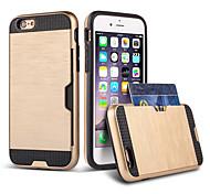 For iPhone 8 iPhone 8 Plus iPhone 6 iPhone 6 Plus Case Cover Card Holder Shockproof Back Cover Case Armor Hard TPU for Apple iPhone 8