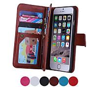 магнитные 2 в 1 с кожаной кошелек + 9 карт + тариф слот + фоторамка телефон случае для Apple IPhone 6 плюс / 6S плюс