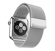 Milanese loop for apple watch 42mm 38mm banda de acero inoxidable con fuerte hebilla magnética