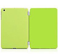 cheap -Case For iPad Air with Stand Auto Sleep / Wake Full Body Cases Solid Color PU Leather for iPad Air
