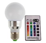 1pc 3W E26/E27 LED Stage Lights Tube High Power LED RGB Remote-Controlled Decorative AC85-265V