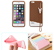 Fabitoo New Fashion Lovely Cute Healthy Cartoon Ice Cream Silica-gel Anti Drop Back Cover Case for iPhone 6 Plus/6S Plus