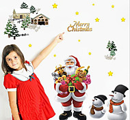 Removable Merry Christmas Santa Claus Home Decor Art Vinyl Wall Sticker