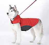 Dog Coat Vest Dog Clothes Waterproof Windproof Solid Dark Blue Red Light Blue Costume For Pets