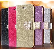 блеск алмазов кожа сотовый телефон случае слот для карт бумажник обратно случаи для Iphone 6 плюс (ассорти цветов)