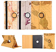 cheap -World Map 360⁰ Case Design Stand Function High Quality PU Leather Bag For iPad 4/3/2