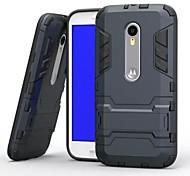 Недорогие -Кейс для Назначение Motorola Кейс для Motorola Защита от удара со стендом Кейс на заднюю панель броня Твердый ПК для