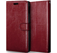 cheap -For Sony Case / Xperia Z3 Wallet / Card Holder / with Stand / Flip Case Full Body Case Solid Color Hard PU Leather for SonySony Xperia Z3