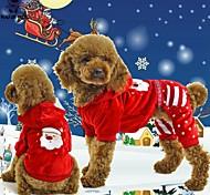 Недорогие -Кошка Собака Толстовки Комбинезоны Одежда для собак Рождество Новый год В снежинку 1 # 2 # Костюм Для домашних животных