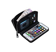 The Specially Designed Multi-Function Card Wallet Genuine Leather Knit Lines Holster for iPhone 6 Plus/iPhone 6S Plus