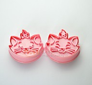 cheap -Cute Cartoon Animal 3D Disney Marie Cat Cookie Cutters and Stamps MC-61