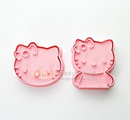 cheap -Cute Cartoon Animal 3D Biscuit Mold Hello Kitty Cookie Cutters and Stamps