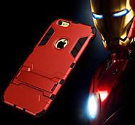 Недорогие -ультратонкий яблоко жесткий чехол защитный чехол с подставкой для iphone 6с 6 плюс
