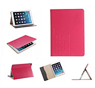 роскошный кожаный чехол сетка карты бумажник стоять умный Защитный книги случаи для IPad 2 воздуха / ipad6 (ассорти цветов)