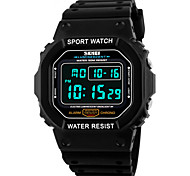 cheap -SKMEI Men's Digital Wrist Watch / Sport Watch Alarm / Calendar / date / day / Chronograph / Water Resistant / Water Proof / Cool PU Band
