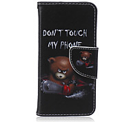 Недорогие -Не трогайте мою телефон шаблон PU кожаный полный крышку корпуса с подставкой для iphone5c