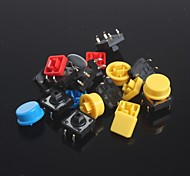 cheap -10pcs Key Tact Switches Set + Key cap for Arduino