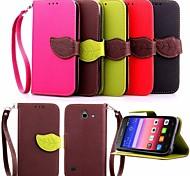 Недорогие -лист шаблон PU кожаный бумажник случае с удочкой на Huawei P8 Lite / P8 / g6 / g7 / Y550 (ассорти цветов)