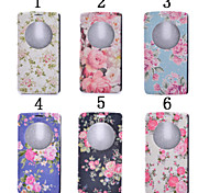 cheap -For LG Case with Stand / with Windows Case Full Body Case Flower Hard PU Leather LG