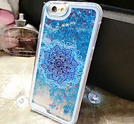 For iPhone 6 Case / iPhone 6 Plus Case Flowing Liquid / Pattern Case Back Cover Case Glitter Shine Hard PCiPhone 6s Plus/6 Plus / iPhone