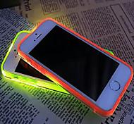 новый вызов козырек привело мигать прозрачный корпус ТПУ задняя крышка для iPhone / 6с 6plus плюс (ассорти цветов)