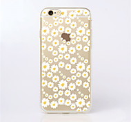 For iPhone 7 MAYCARI®Sea of White Flowers Transparent TPU Back Case for iPhone 6s 6 Plus
