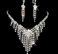 cheap -Tassel / Long Jewelry Set - Cubic Zirconia, Imitation Diamond Tassel, Party Include White For / Earrings / Necklace