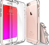 iPhone 7 Plus 6s 6 Plus SE 5s 5 Crystal Clear PC Drop Protection TPU Hard Bumper Case
