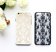 cheap -For iPhone 6 Case / iPhone 6 Plus Case Ultra-thin / Translucent / Pattern Case Back Cover Case Lace Printing Hard PCiPhone 6s Plus/6 Plus