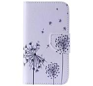 Black Dandelion Painted PU Phone Case for Galaxy Grand Prime/Core Prime/J5/J1/J1 Ace/J2