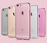 cheap -Case For Apple iPhone 8 iPhone 8 Plus iPhone 6 iPhone 6 Plus iPhone 7 Plus iPhone 7 Plating Back Cover Solid Color Soft TPU for iPhone 8