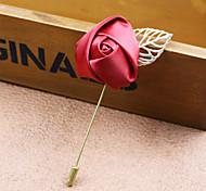 Недорогие -Муж. Жен. Броши Мода Ткань Сплав Розы Цветы Бижутерия Назначение Свадьба Для вечеринок Особые случаи День рождения Подарок Повседневные