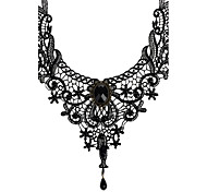 cheap -Women's Lace Choker Necklace Pendant Necklace  -  Vintage Bridal Jewelry Black Necklace For Wedding Party Daily