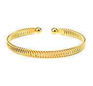 cheap -Women's Cuff Bracelet - Gold Plated Unique Design, Simple Style, Fashion Bracelet Golden For Christmas Gifts / Party / Daily